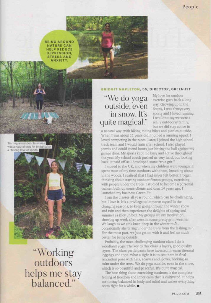 Platinum Magazine features Green Fit